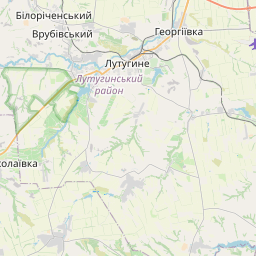 Map of Luhansk