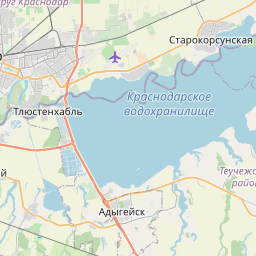 Map of Krasnodar