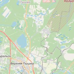 Map of Yekaterinburg