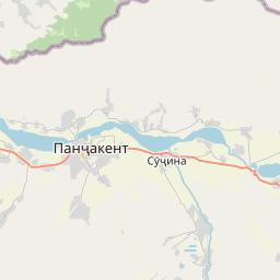 Map of Panjakent