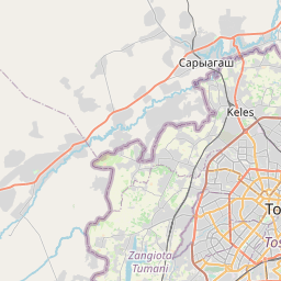 Map of Toshkent