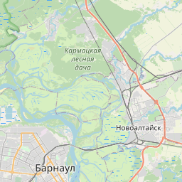 Map of Barnaul