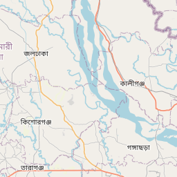 Map of Rangpur