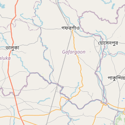 Map of Mymensingh