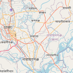 Map of Dhaka