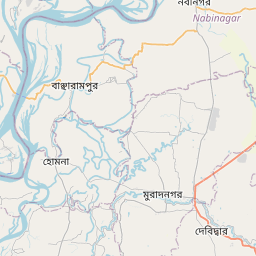 Map of Comilla