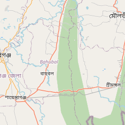 Map of Sylhet