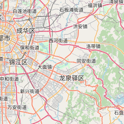 Map of Chengdu