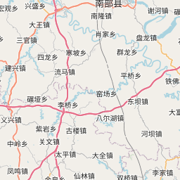 Map of Nanchong