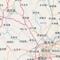 Map of Nanchong