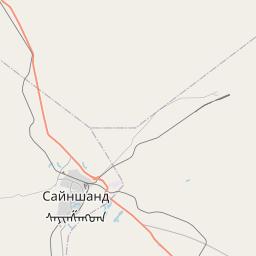 Map of Saynshand