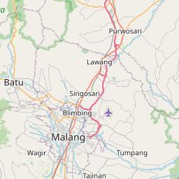 Map of Malang