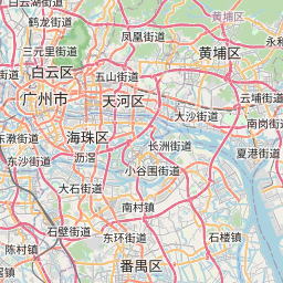 Map of Dongguan