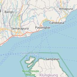 Map of Denpasar