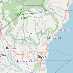 Map of Davao