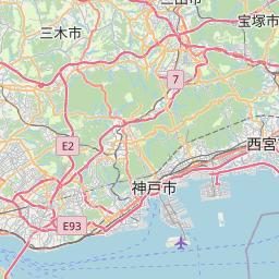 Map of Nishinomiya-hama
